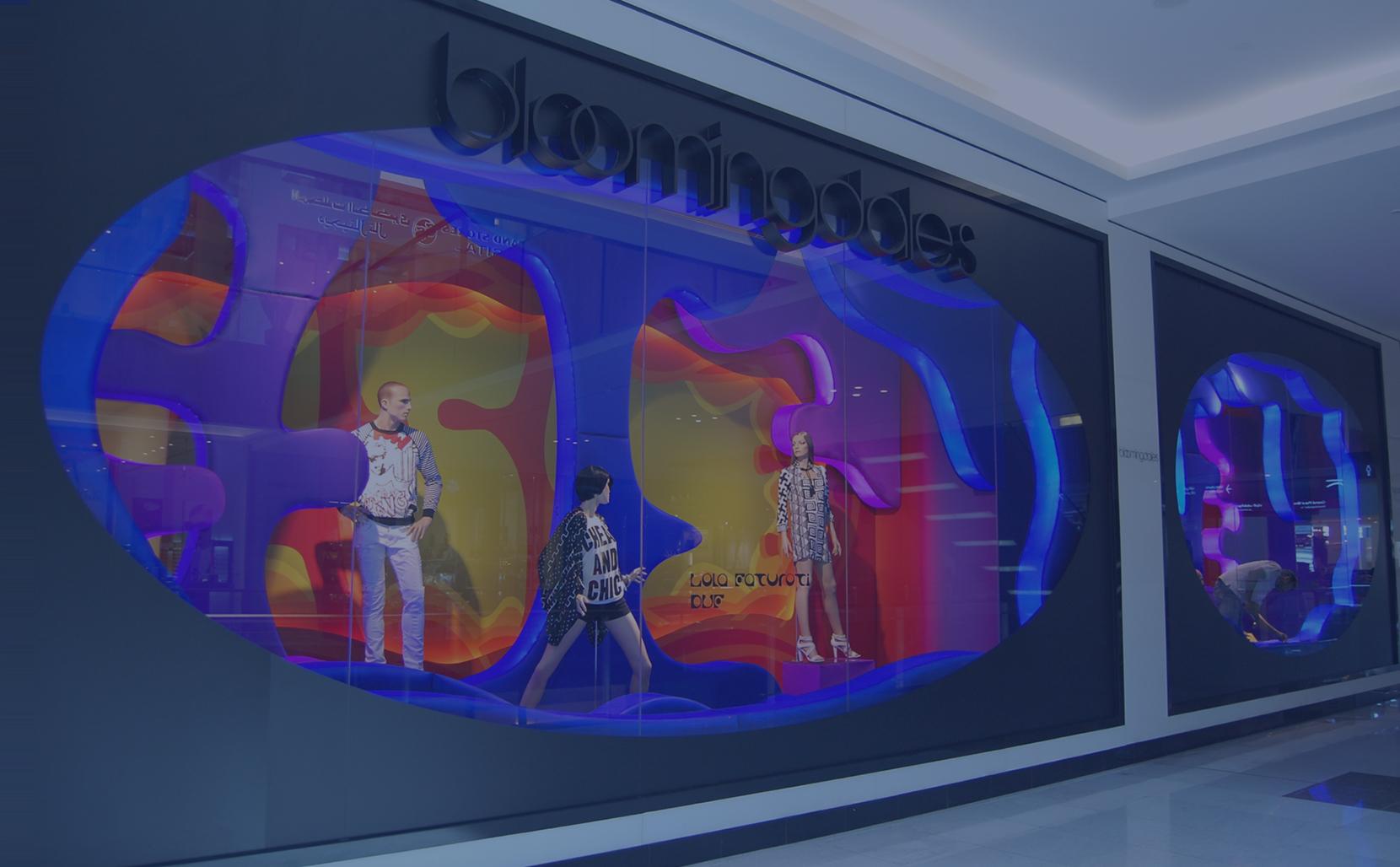 Bloomingdales window display by Sign Works Dubai