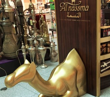 Al Nassma Camel Fiberglass display by Sign Works