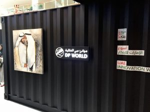 DP world Pop-up by Sign Works in Dubai Mall