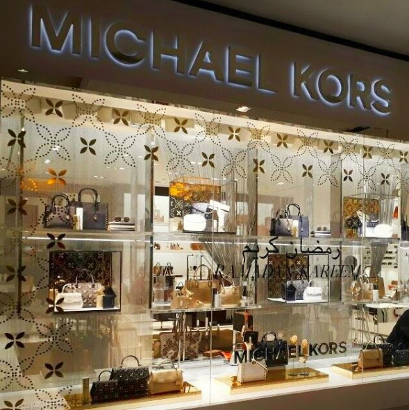 Michael Kors Window display by Sign Works
