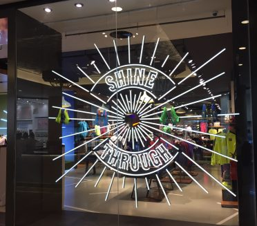 Nike retail Signage produced and installed by Sign Works in Abu Dhabi