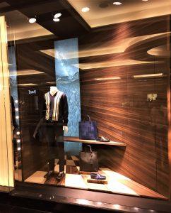 Prada window display project by Sign Works Dubai