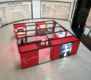 Givenchy Pop-up custom fabricated and installed by Sign Works Dubai