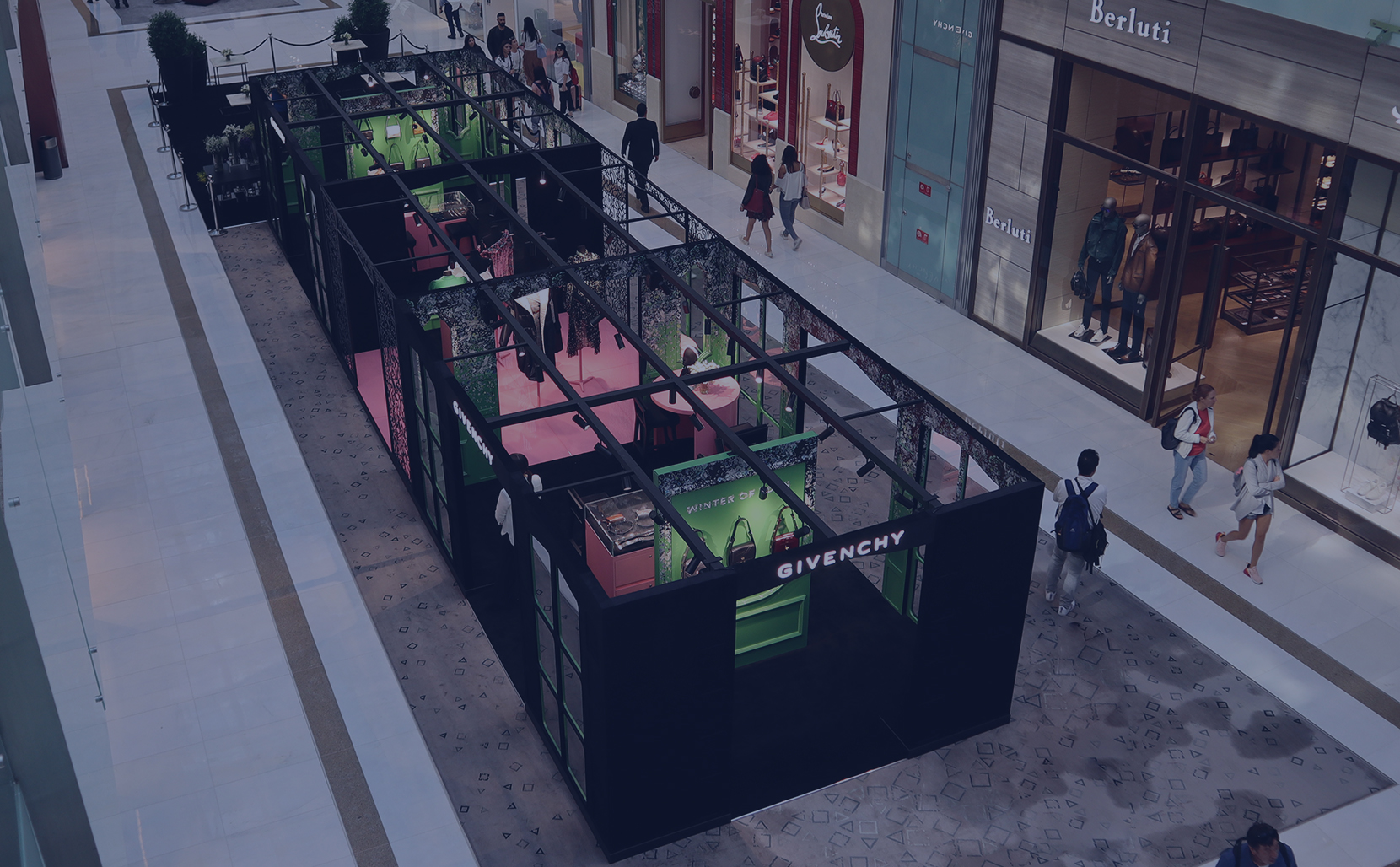Givenchy Pop-up store at Dubai Mall by Sign Works